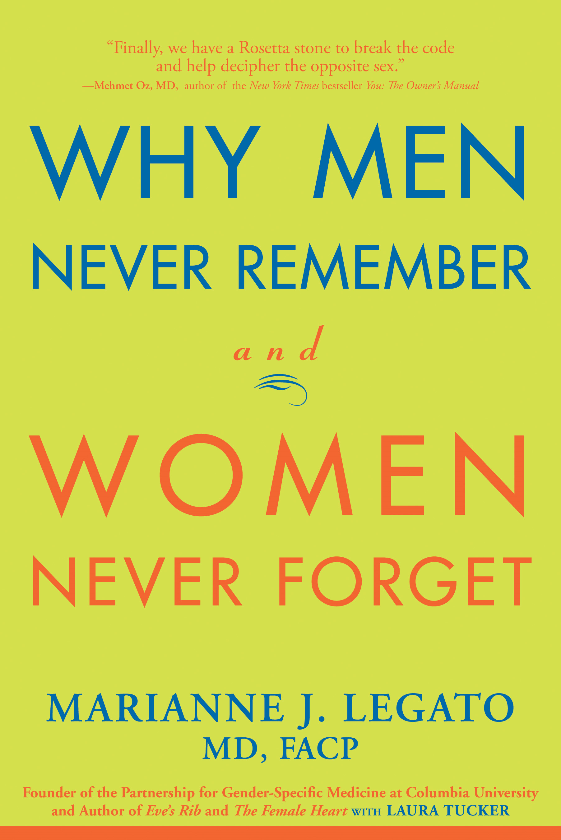 Why Men Never Remember and Women Never Forget By: Marianne Legato