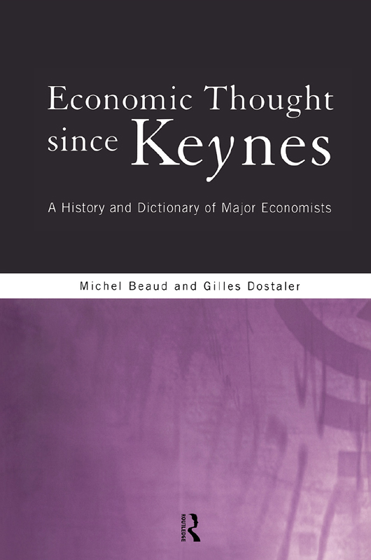 Economic Thought Since Keynes