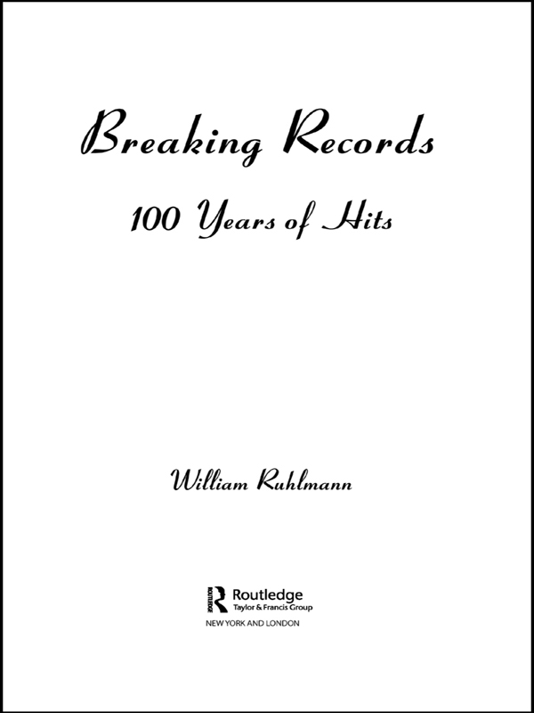 Breaking Records 100 Years of Hits