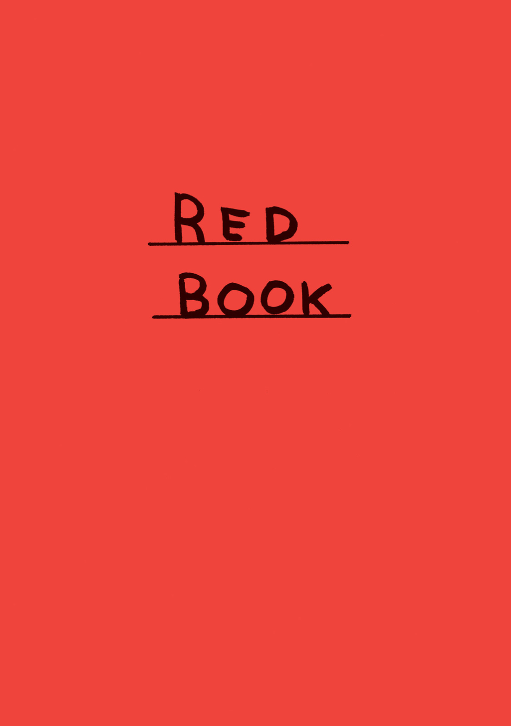 Red Book By: David Shrigley