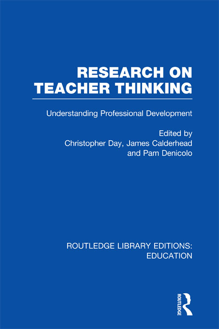 Research on Teacher Thinking (RLE Edu N)