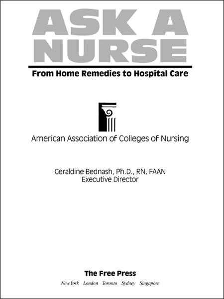 Ask a Nurse By: Amer Assoc of Colleges of