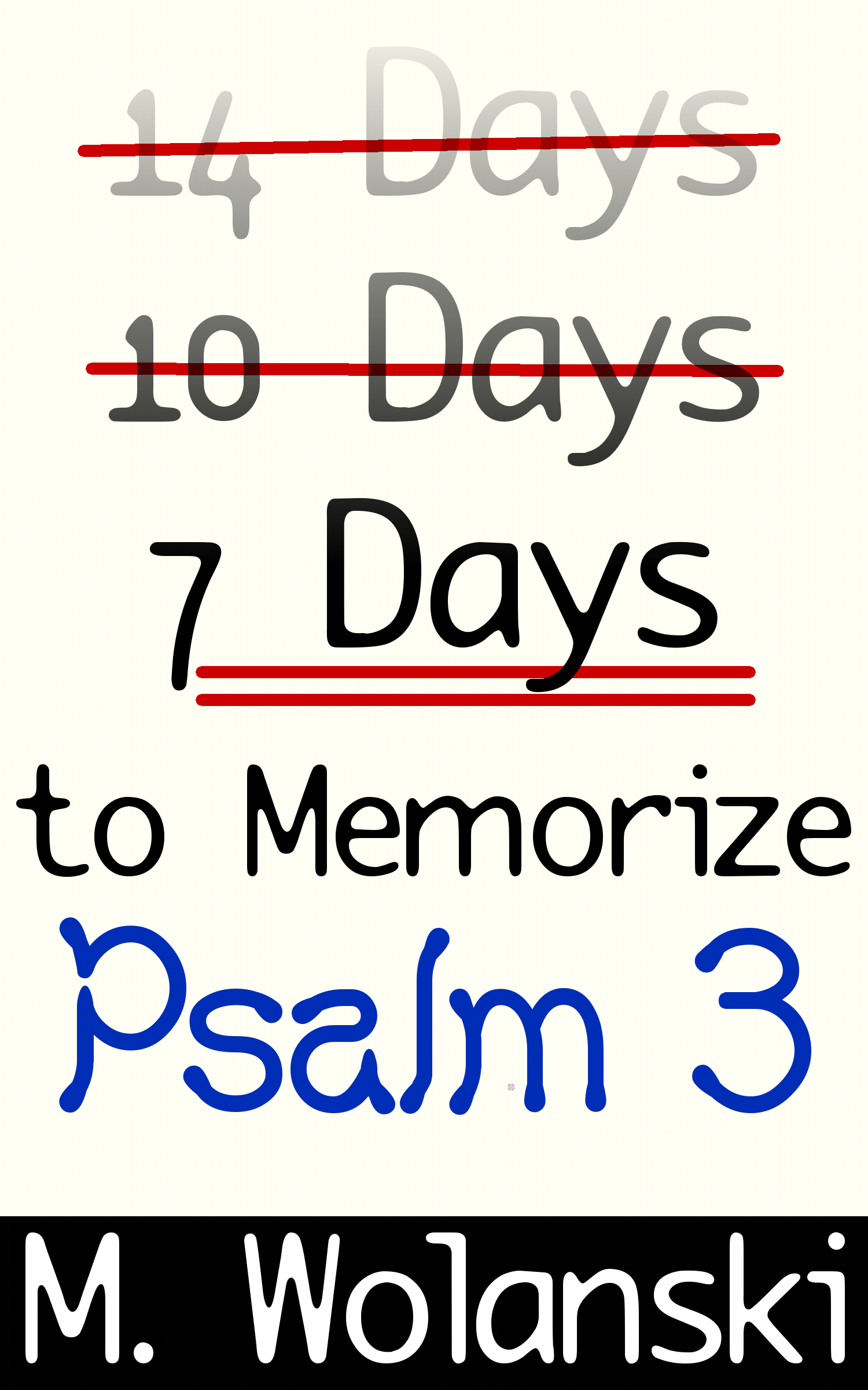7 Days to Memorize Psalm 3