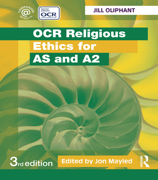 OCR Religious Ethics for AS and A2,  third edition