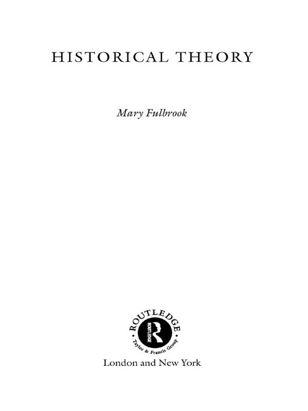 Historical Theory