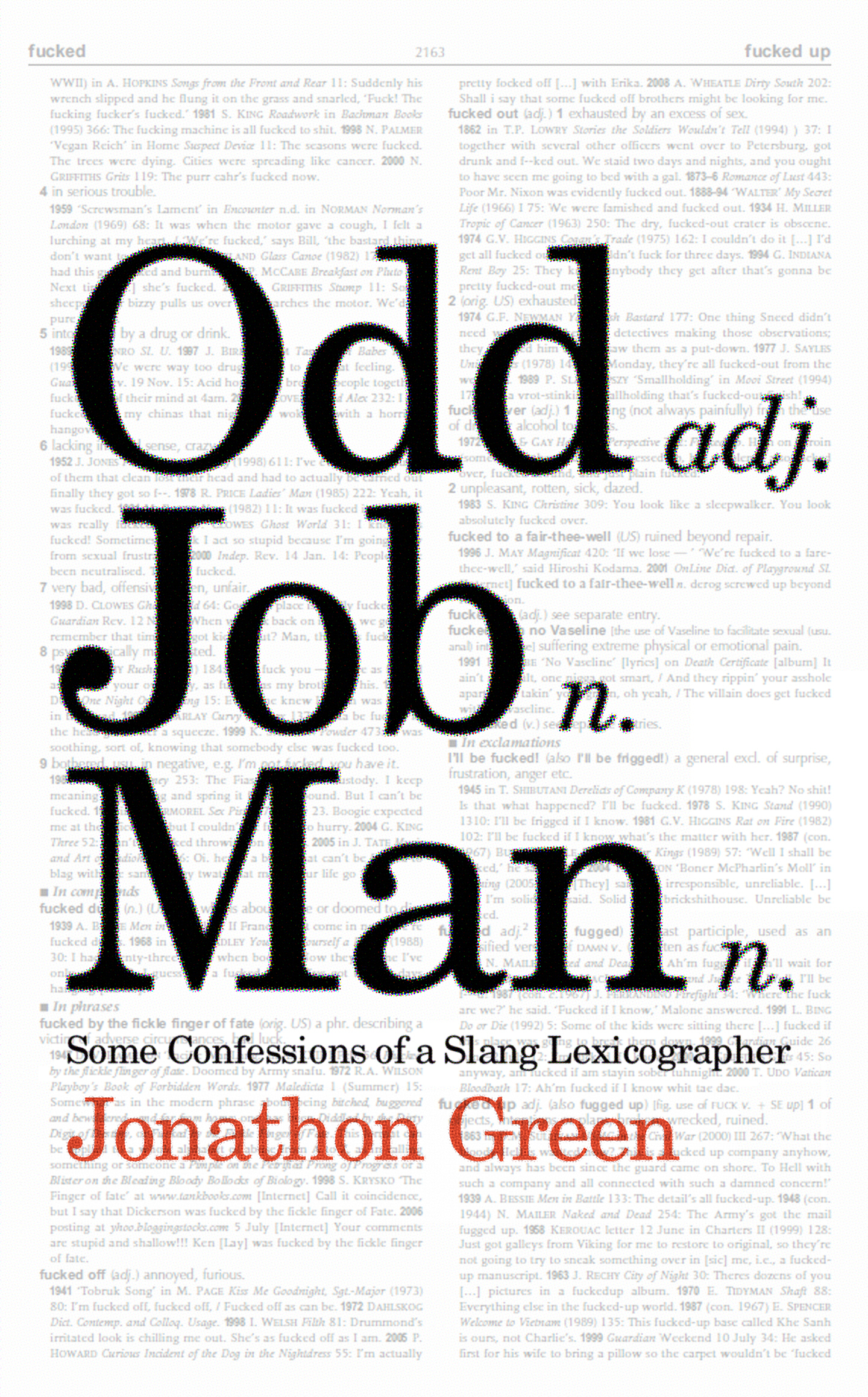 Odd Job Man Some Confessions of a Slang Lexicographer
