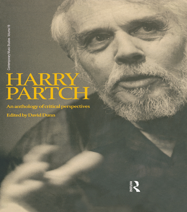 Harry Partch An Anthology of Critical Perspectives