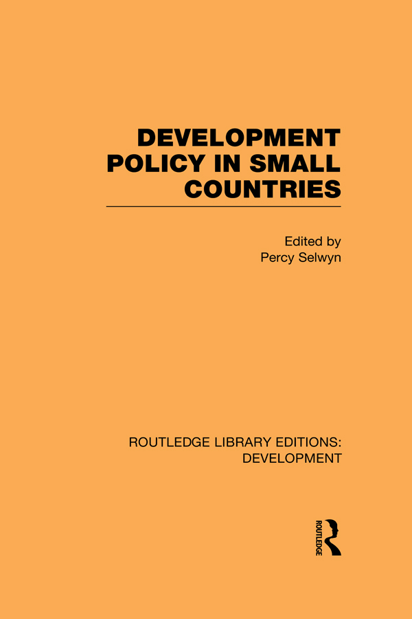 Development Policy in Small Countries