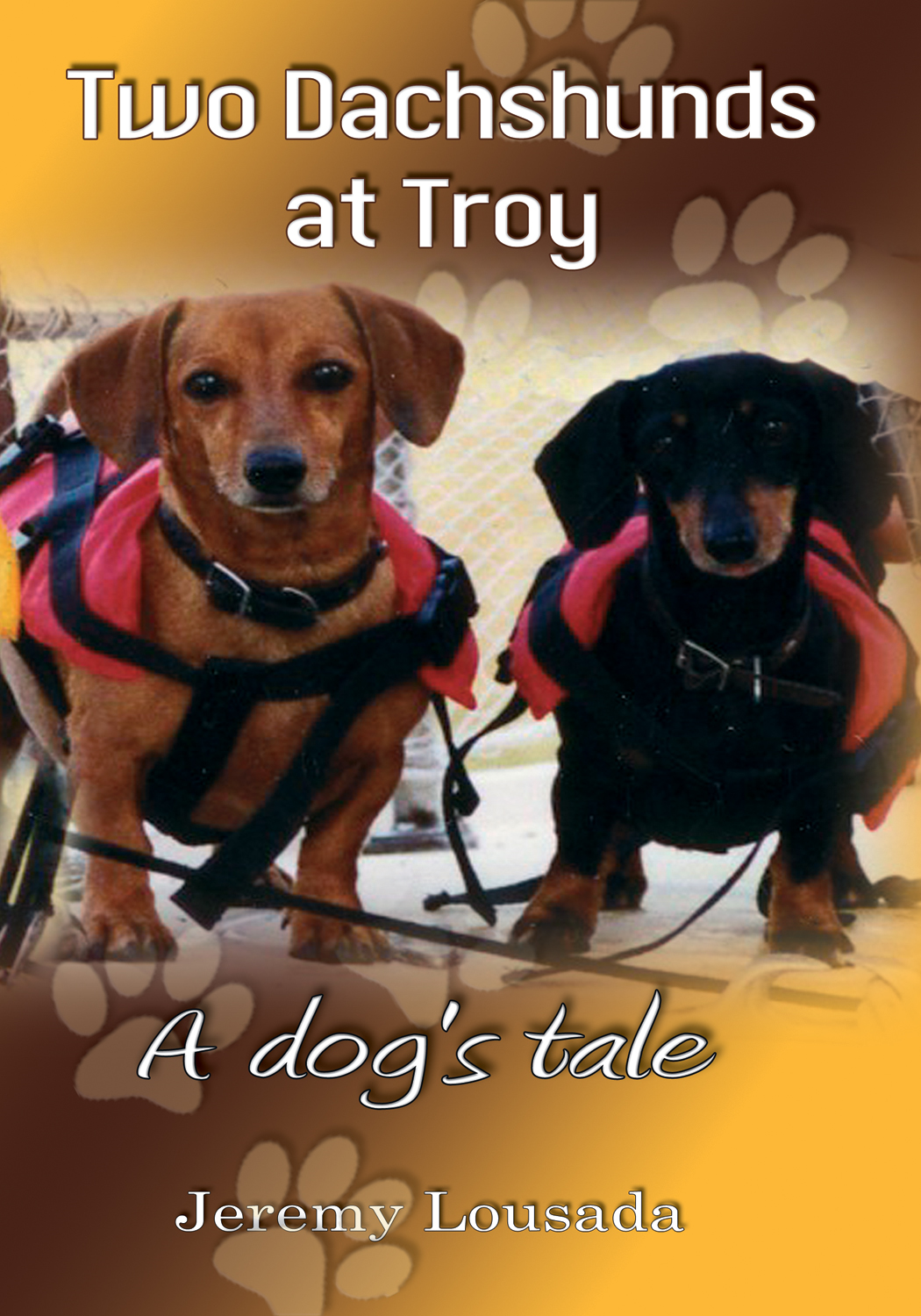Two Dachshunds at Troy By: Jeremy Lousada