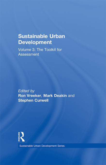 Sustainable Urban Development Volume 3 By: