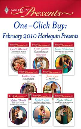 One-Click Buy: February 2010 Harlequin Presents By: Caitlin Crews,Carol Marinelli,Carole Mortimer,Jennie Lucas,Lynne Graham,Robyn Donald