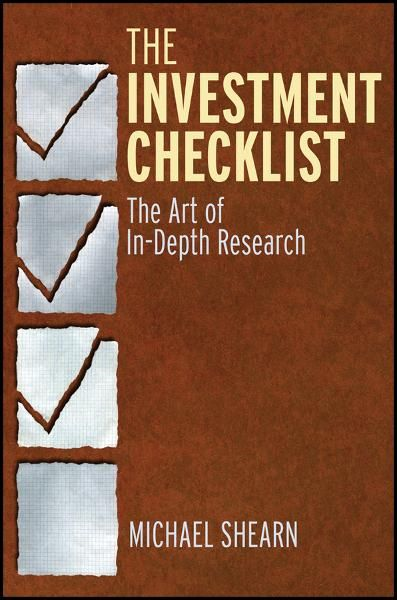 The Investment Checklist By: Michael Shearn