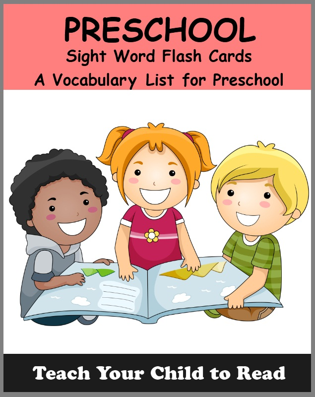 PRESCHOOL - Sight Word Flash Cards