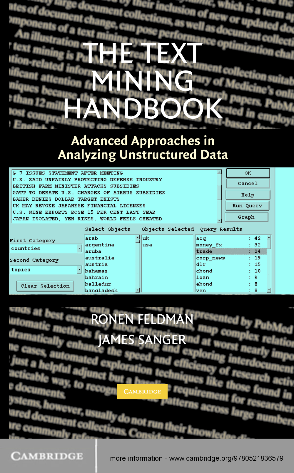 The Text Mining Handbook Advanced Approaches in Analyzing Unstructured Data