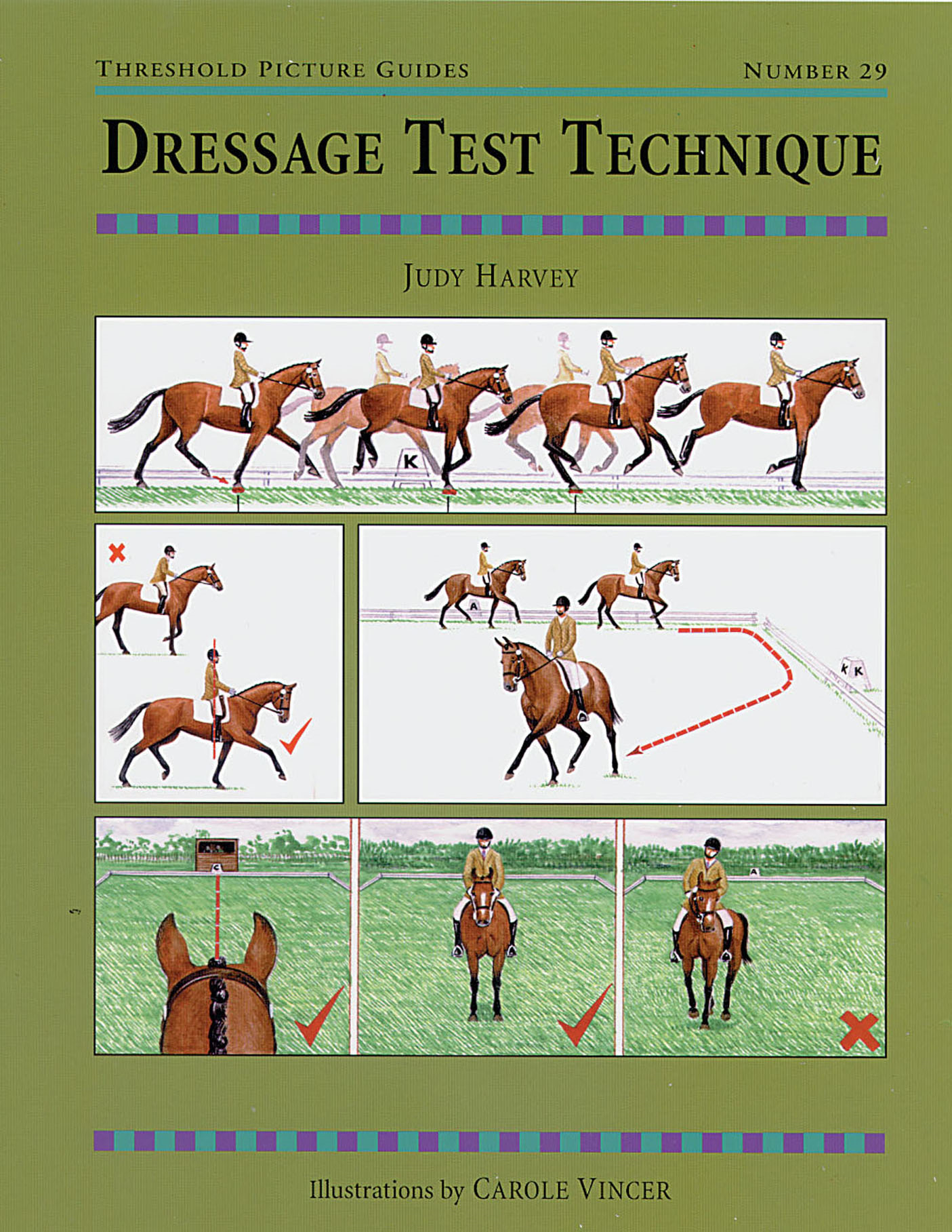 DRESSAGE TEST TECHNIQUES By: JUDY HARVEY,CAROLE VINCER