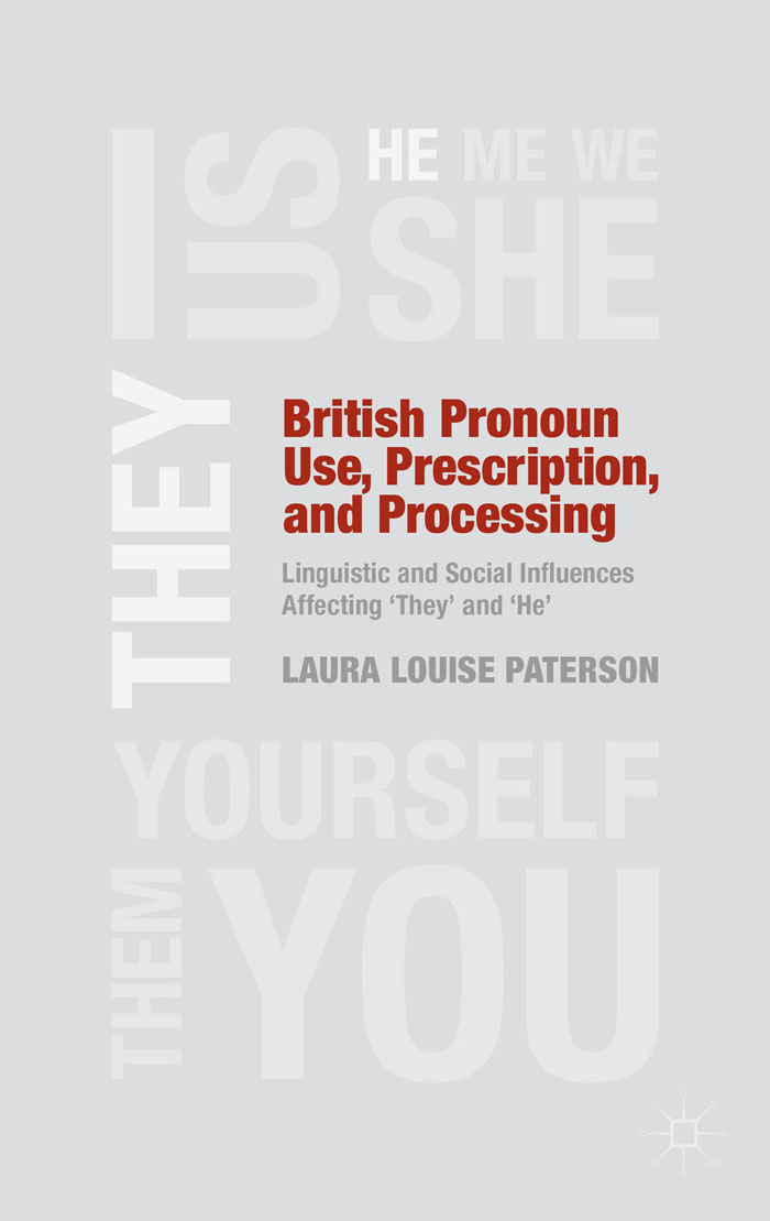British Pronoun Use,  Prescription,  and Processing Linguistic and Social Influences Affecting 'They' and 'He'