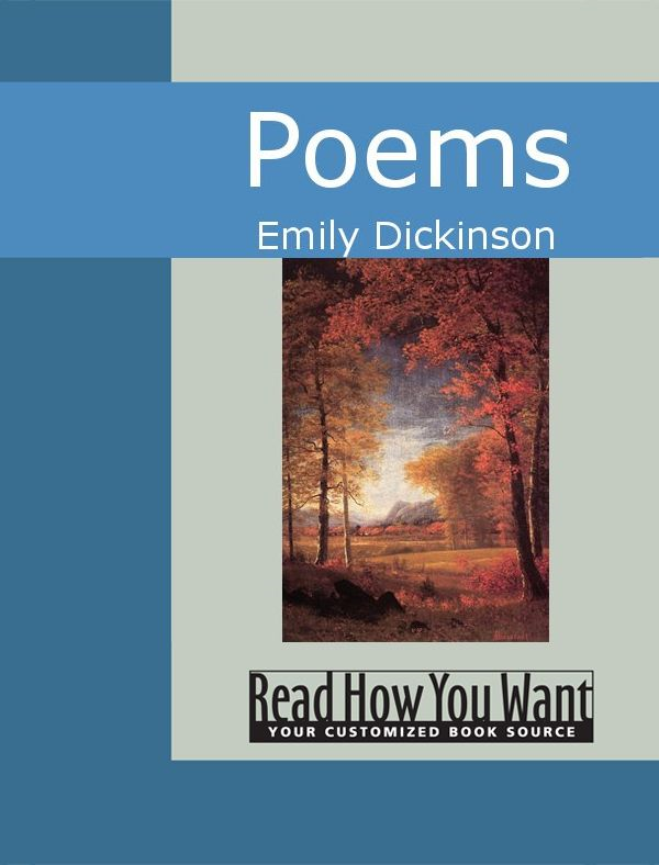 Poems By: Emily Dickinson