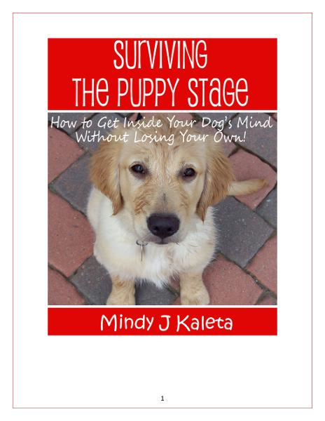 Surviving the Puppy Stage: How To Get Inside Your Dog's Mind Without Losing Your Own! By: Mindy J. Kaleta