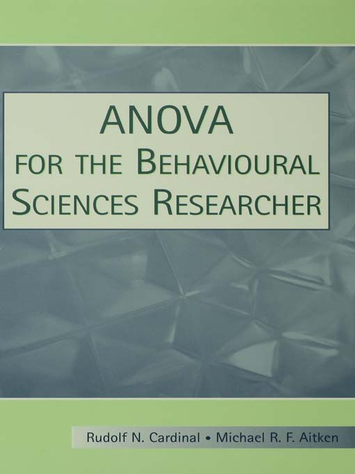 ANOVA for the Behavioral Sciences Researcher