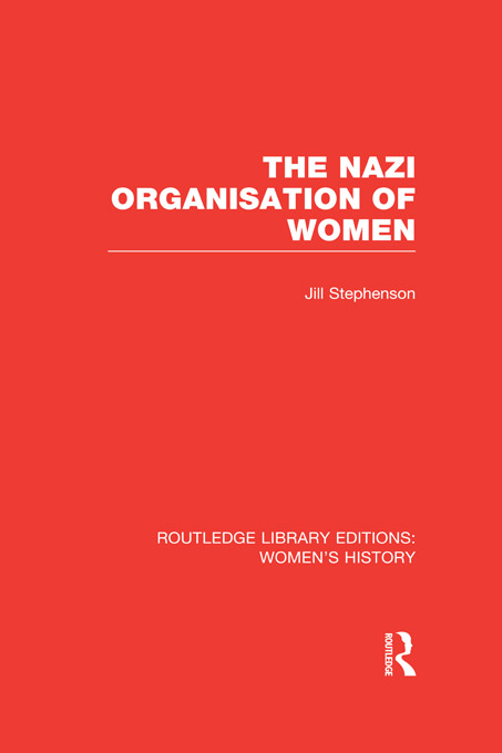 The Nazi Organisation of Women