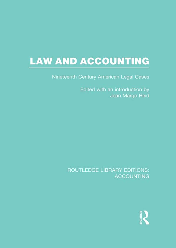 Law and Accounting Nineteenth Century American Legal Cases