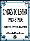 Things To Learn - 1923 Style (fun For Parent And Child)