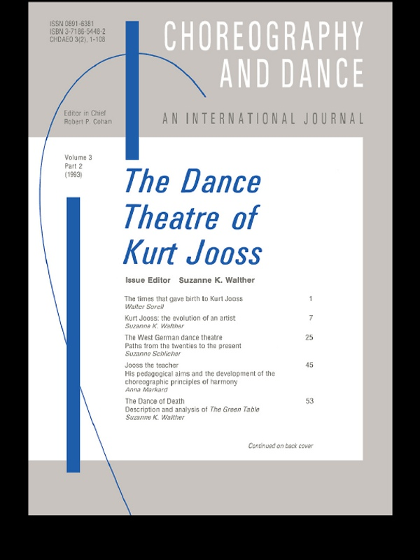 The Dance Theatre of Kurt Jooss