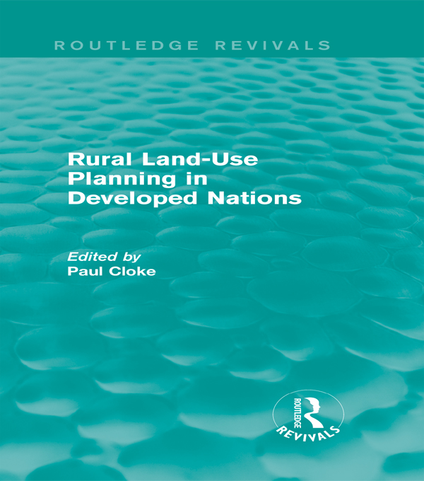 Rural Land-Use Planning in Developed Nations