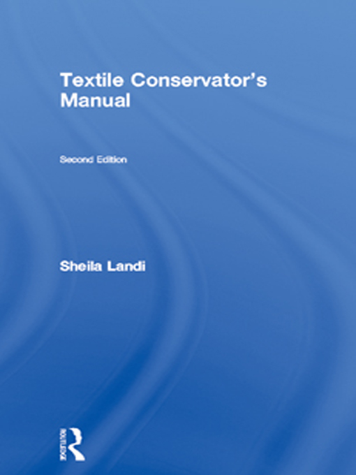 Textile Conservator's Manual