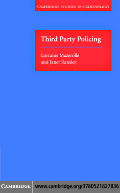 Lorraine Mazerolle - Third Party Policing