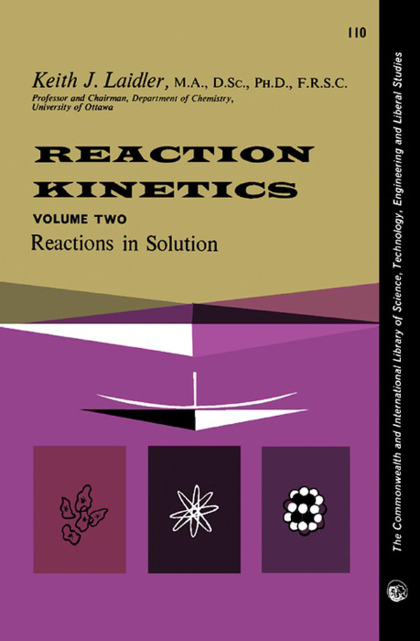 Reaction Kinetics Reactions in Solution