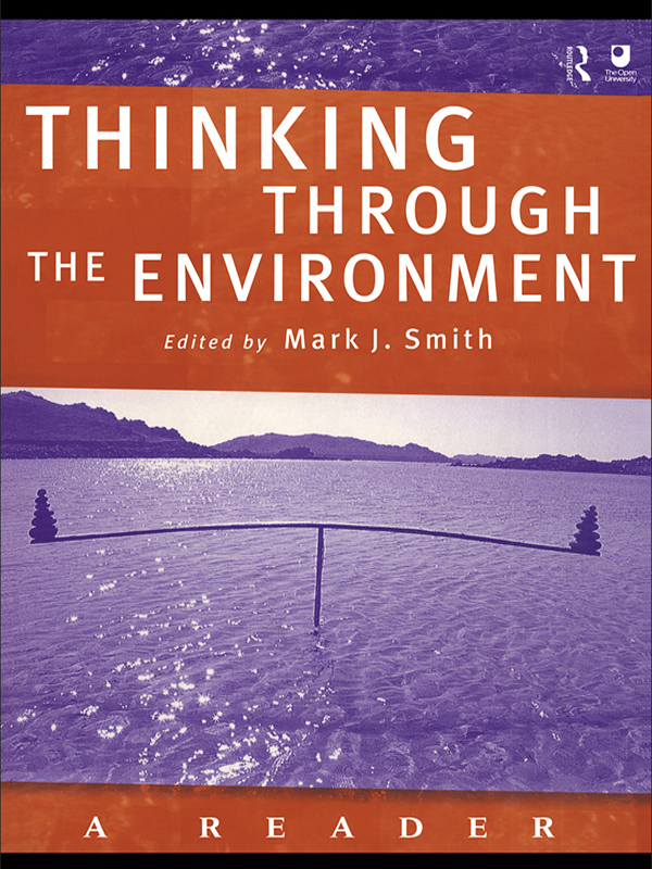 Thinking Through the Environment A Reader