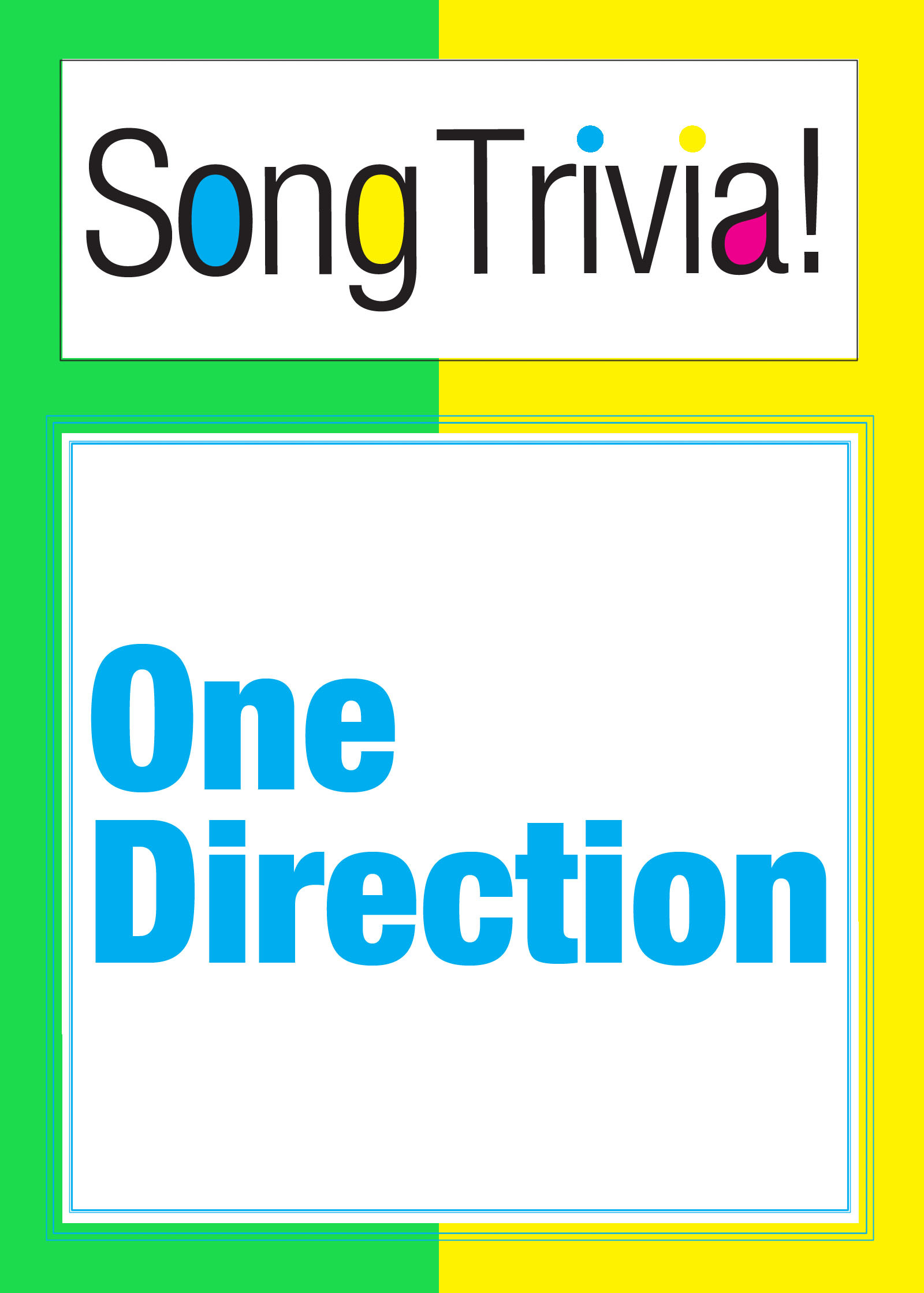 "One Direction SongTrivia! What's Your Music IQ? ""Gotta Be You"", ""One Thing"", ""Little Things"" & More: Interactive Trivia Quiz Game  author: SongTrivia"