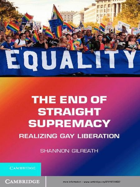 The End of Straight Supremacy Realizing Gay Liberation