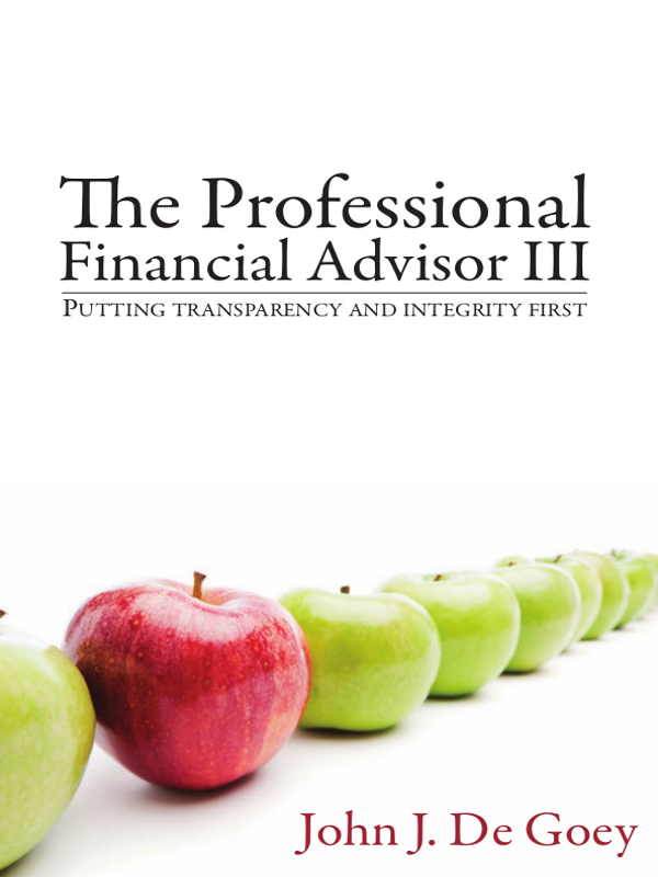 The Professional Financial Advisor III