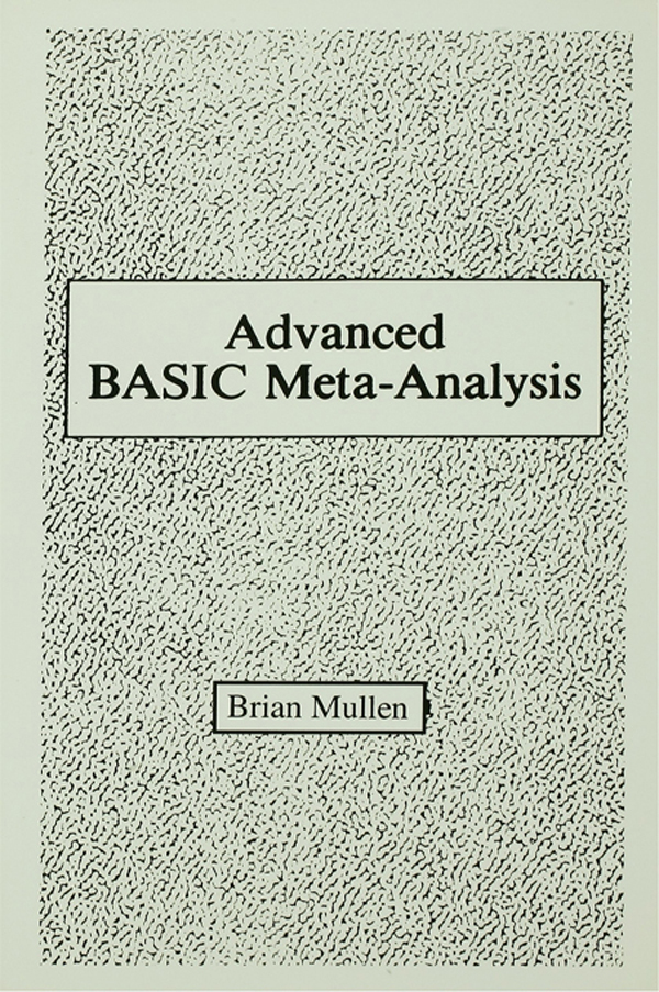 Advanced Basic Meta-analysis