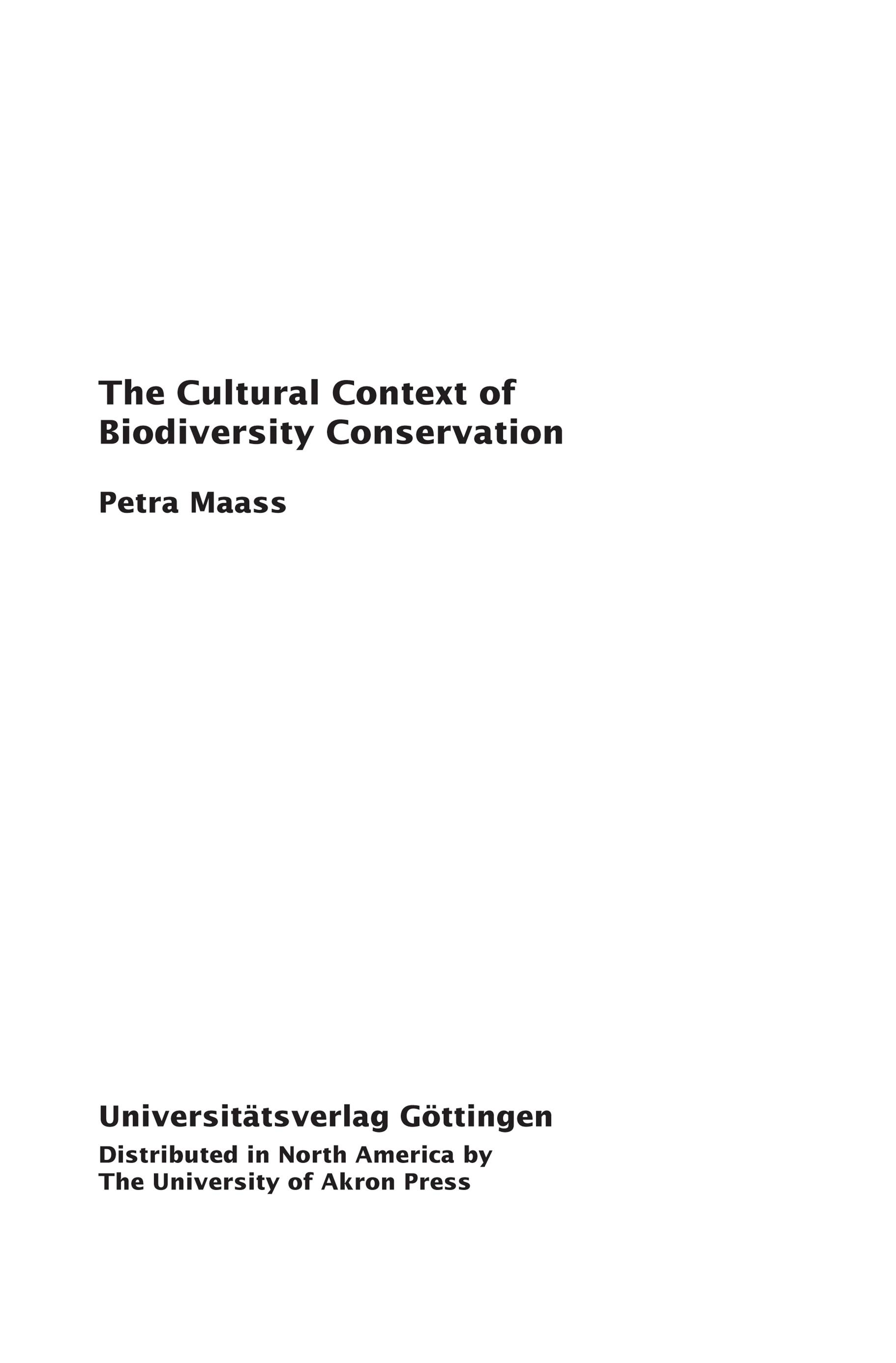 The Cultural Context of Biodiversity: Seen and Unseen Dimensions of Indigenous Knowledge among Q'eqchi' Communities in Guatemala By: Petra Maass