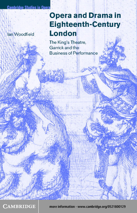 Opera and Drama in Eighteenth-Century London