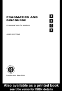 Pragmatics And Discourse: A Resource Book For Students: