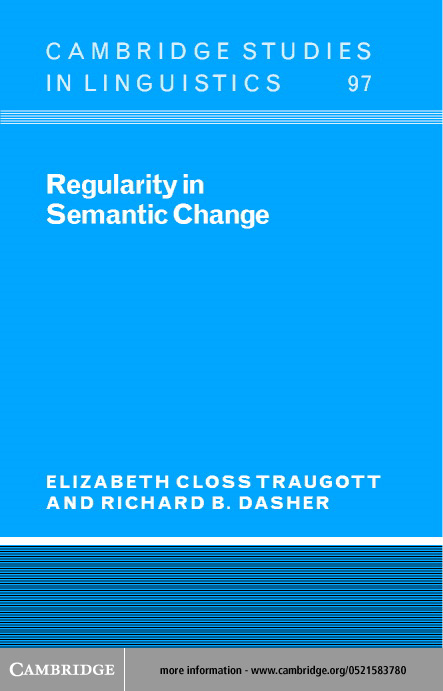Regularity in Semantic Change