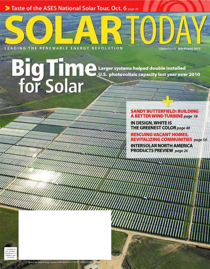 SOLAR TODAY July/August 2012 By: American Solar Energy Society