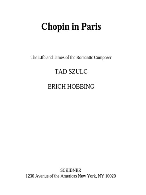 Chopin in Paris By: Tad Szulc