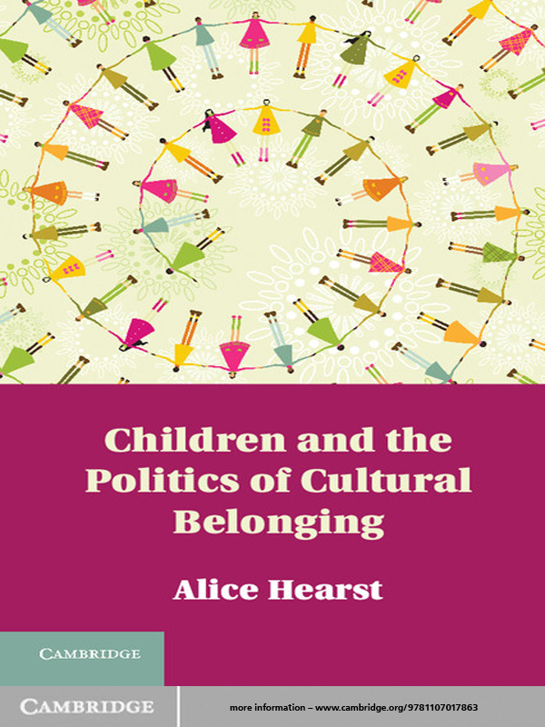 Children and the Politics of Cultural Belonging