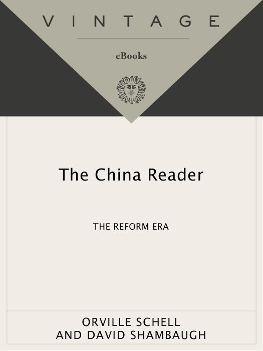 The China Reader By: Orville Schell