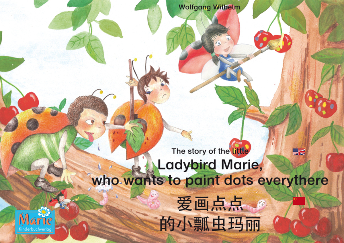 The story of the little Ladybird Marie, who wants to paint dots everythere. English-Chinese.