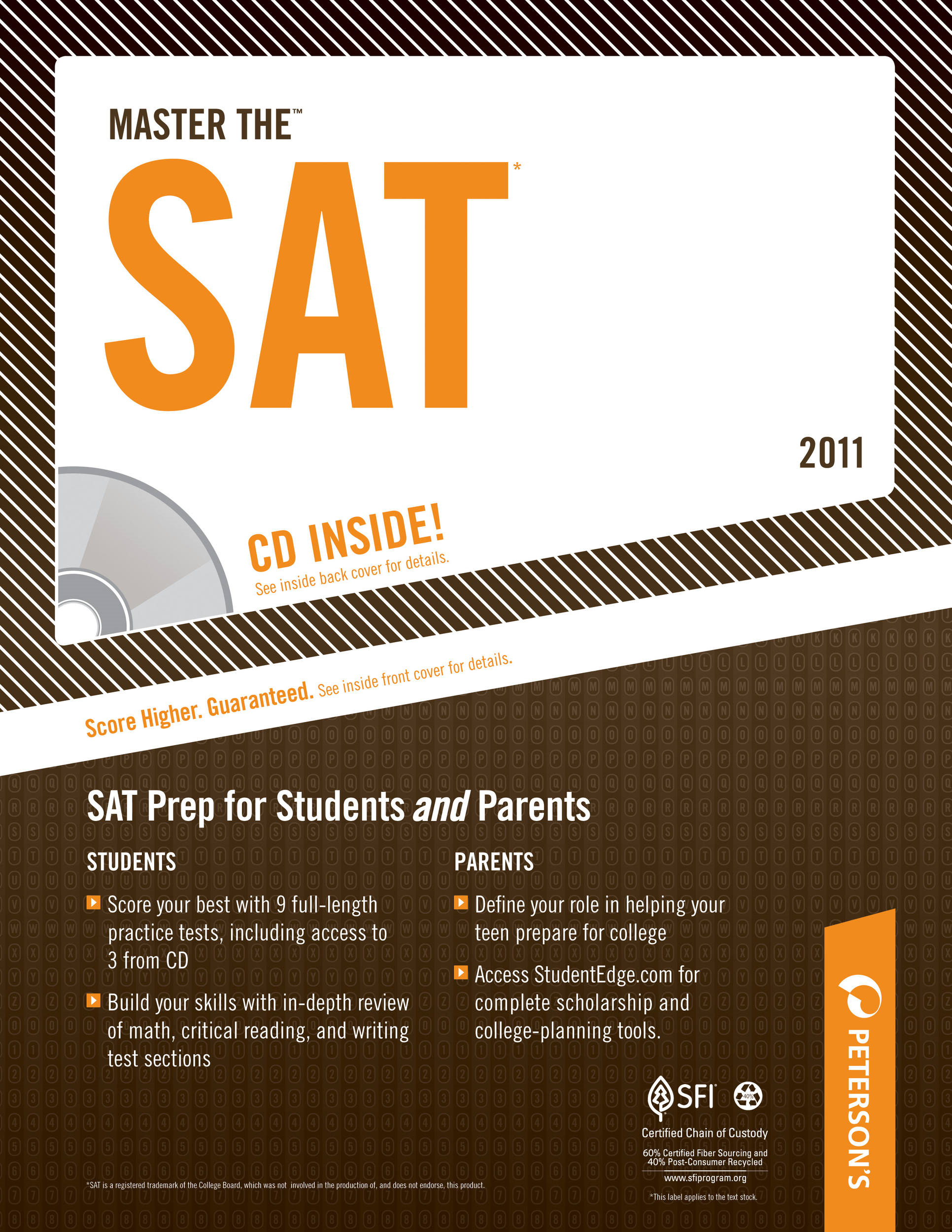 Master the SAT: The Writing Process and the SAT Essay By: Peterson's
