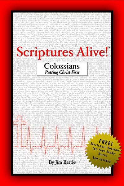 Scriptures Alive!: Colossians