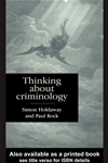 Thinking About Criminology: