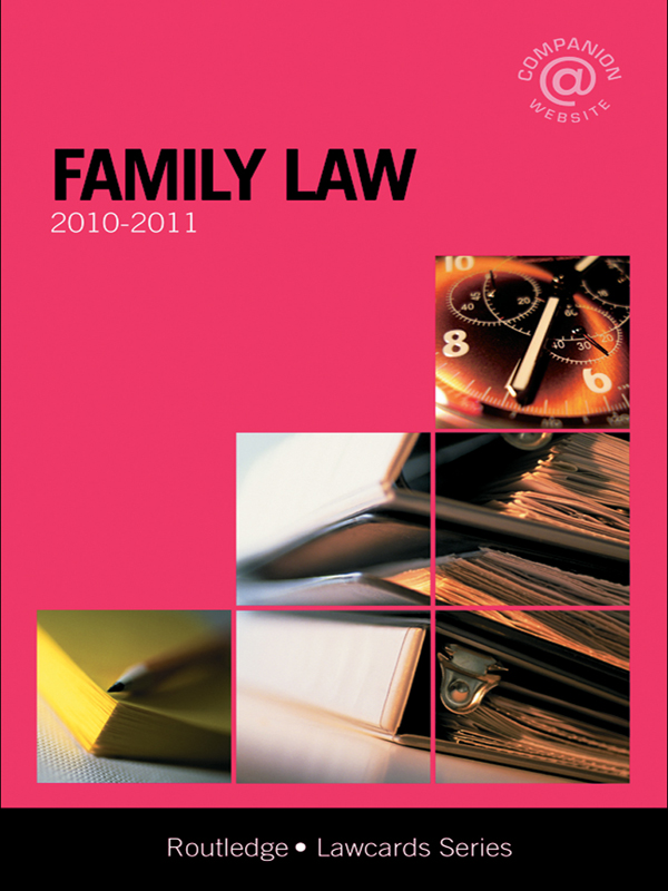 Family Lawcards 2010-2011 By: Routledge