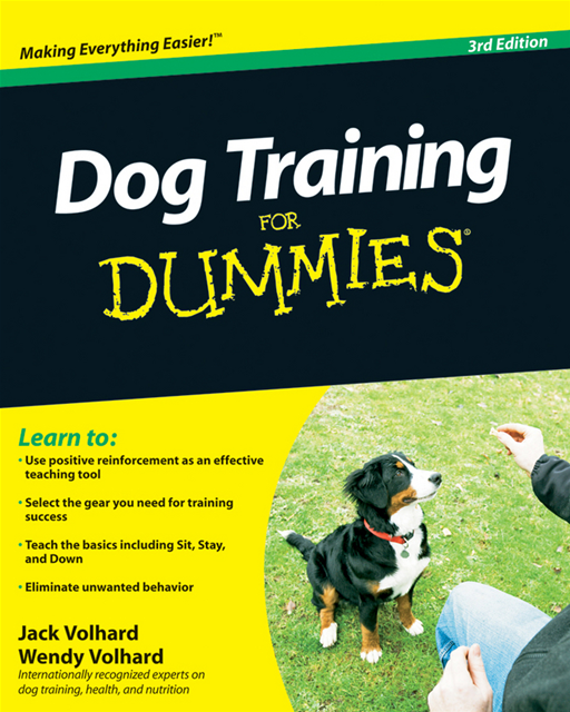 Dog Training For Dummies By: Jack Volhard,Wendy Volhard